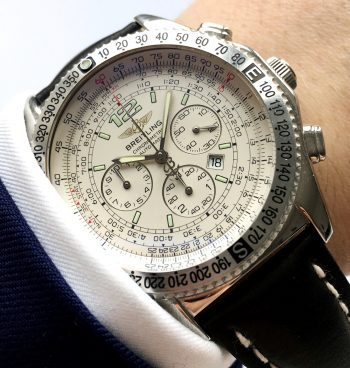 [:en]Modern Breitling Chronograph with Papers in Great Condition[:de]Makelloser moderner Breitling Chronograph mit Papieren[:]