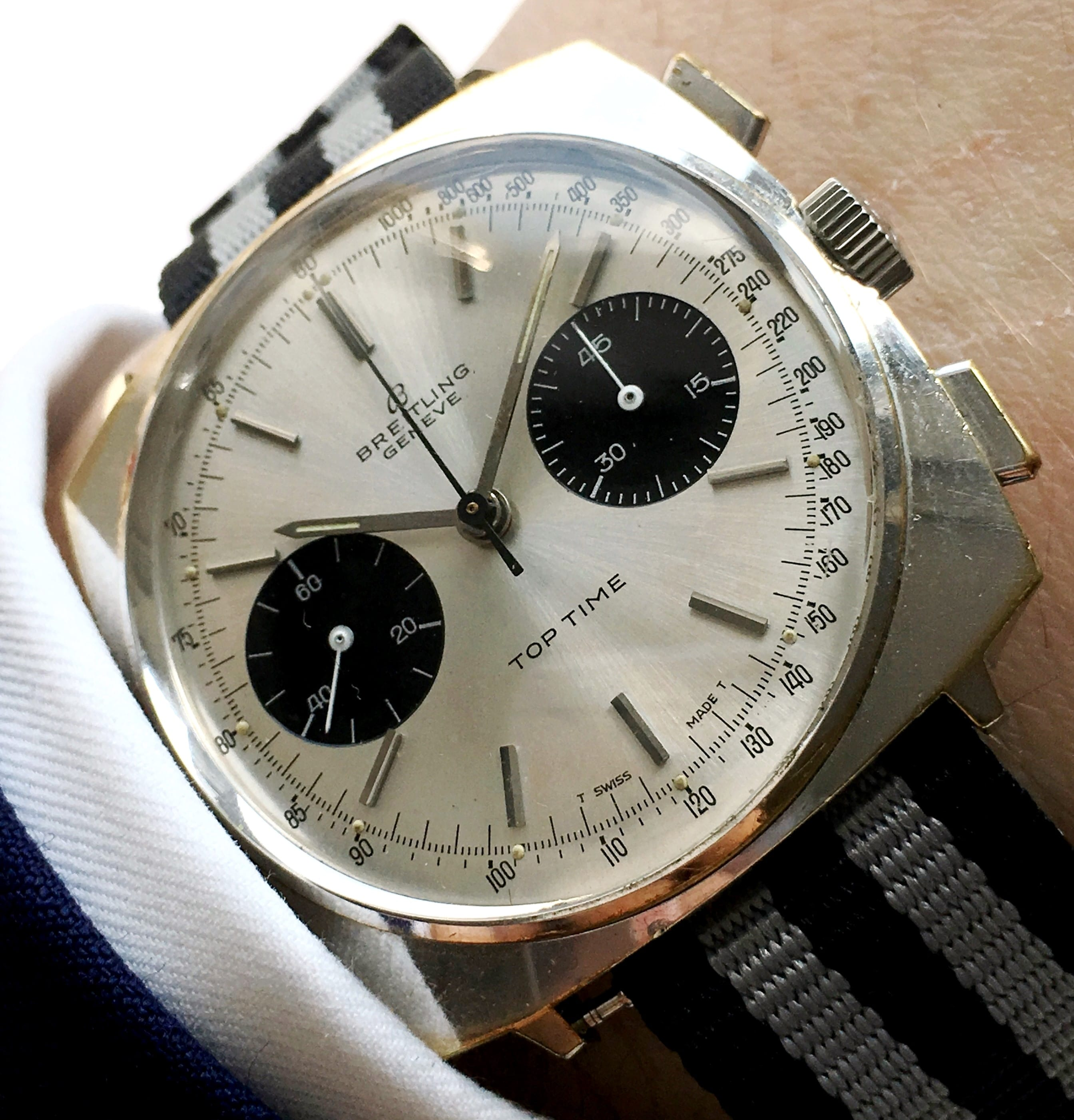 Beautiful Breitling Top Time PANDA Chronograph