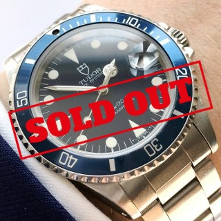 Early 1990s Midsize Tudor Submariner Tritium Vintage Diver
