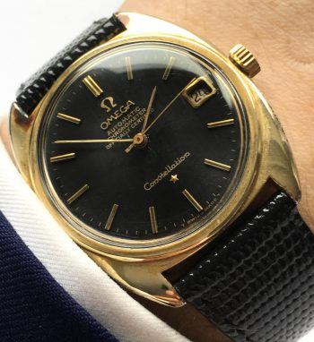 [:en]Vintage Omega Constellation Automatic black unrestored dial[:de]Vintage Omega Constellation Automatik schwarzes Originalzb[:]