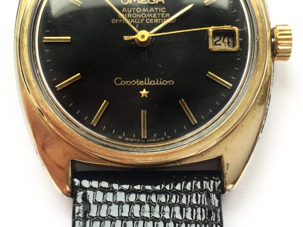 Vintage Omega Constellation Automatic black unrestored dial