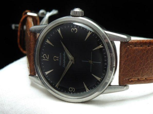 Vintage Omega Seamaster Handwinding Black Explorer Dial