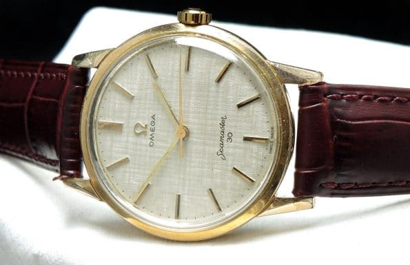 Vintage Calatrava Style Omega Seamaster 30 with Linen Dial