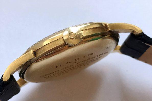 Engraved Vintage Omega Calatrava Solid 18k Gold Cal 265