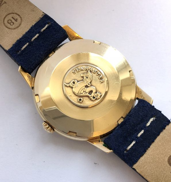 Vintage Solid 18k Gold Omega Seamaster Automatic Date