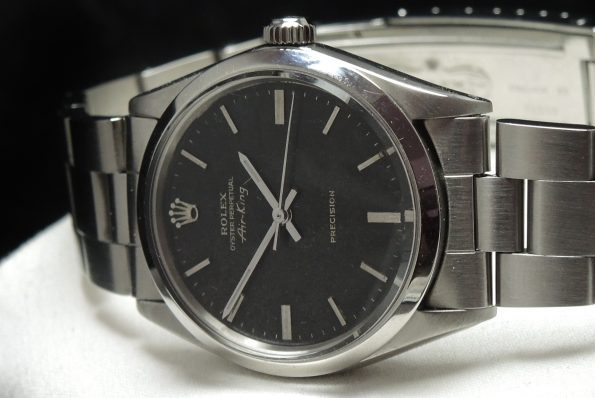 Vintage Rolex Air King Precision Unrestored Black Dial