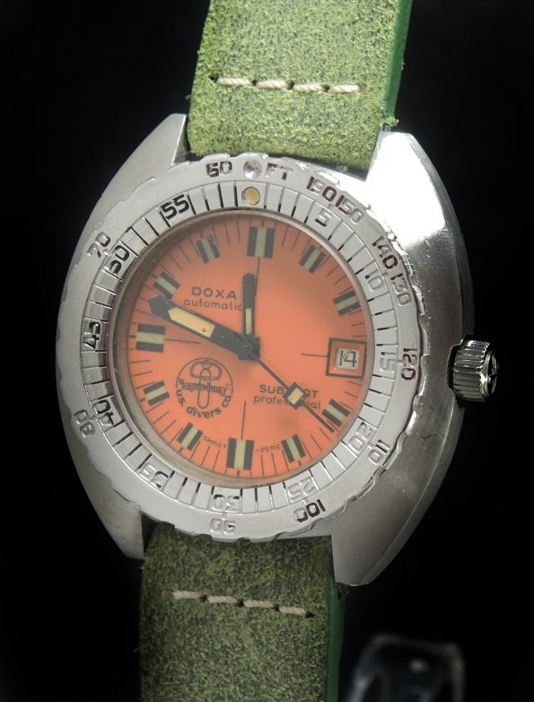 Doxa Sub 300T Diver Watch Vintage US Aqua Lung Special Edition