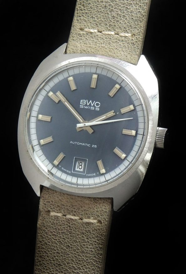 BWC Swiss Automatic 25 Linen Dial Vintage