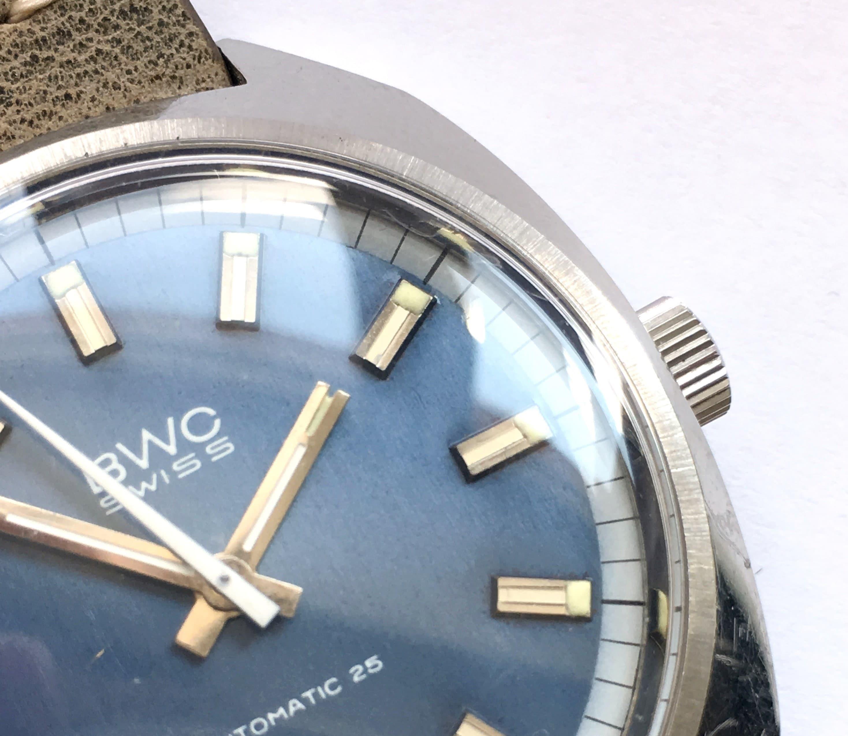 BWC Swiss Automatic 25 Linen Dial Vintage