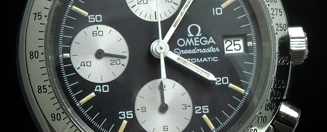 Omega Speedmaster Automatic Reduced Reverse Panda