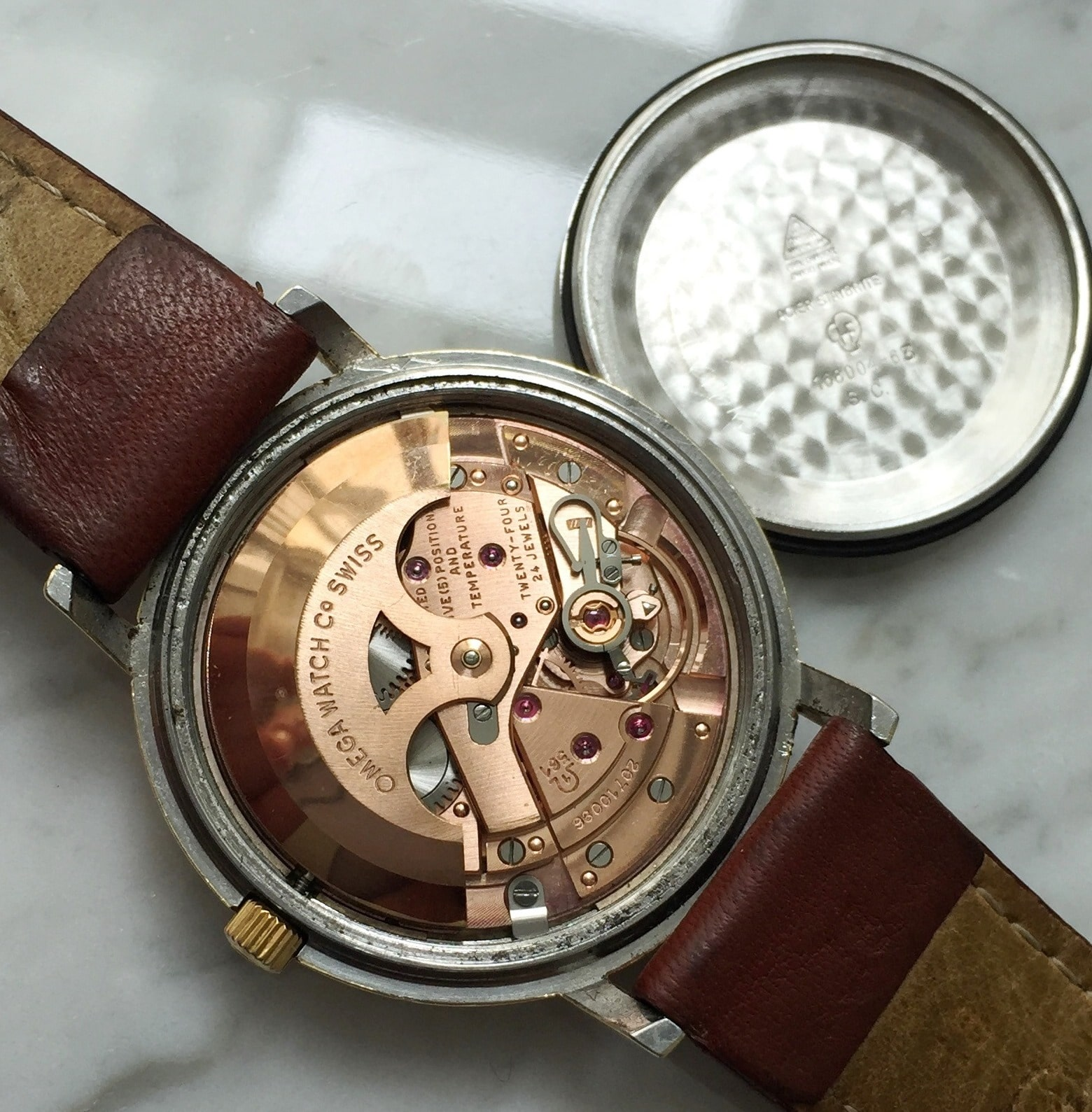 Gold Plated Omega Constellation Meister Dial Automatic