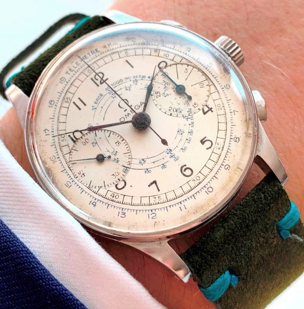 Professionally Serviced Vintage Omega Cal 33.3 Chronograph