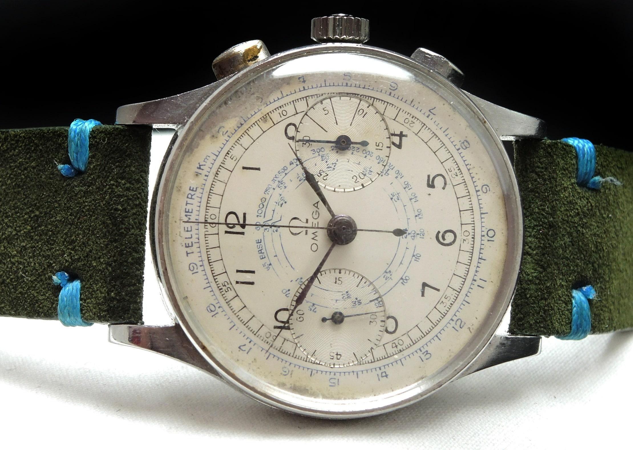 Professionally Serviced Vintage Omega Cal 33.3 Chronograph