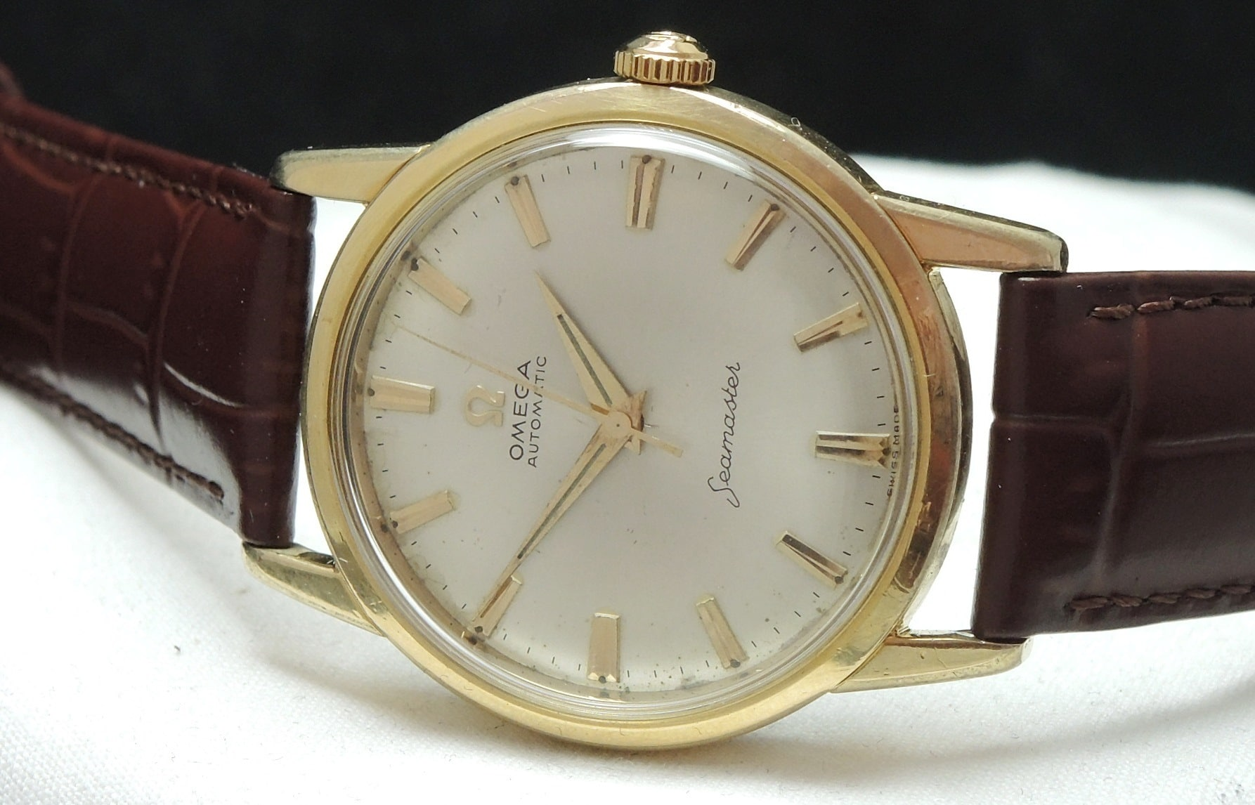 Serviced Omega Seamaster Automatic Gold plated