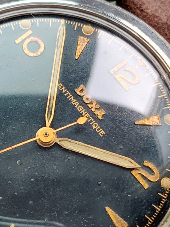 Extremely Rare Doxa Antimagnetique Gilt Dial