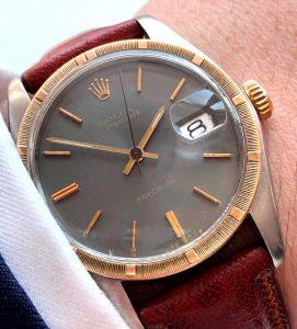 Vintage Rolex Precision Date 6694 Unrefurbished Grey Dial