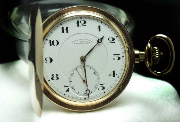 A Lange und Söhne 14k Gold Pocket Watch Full Set