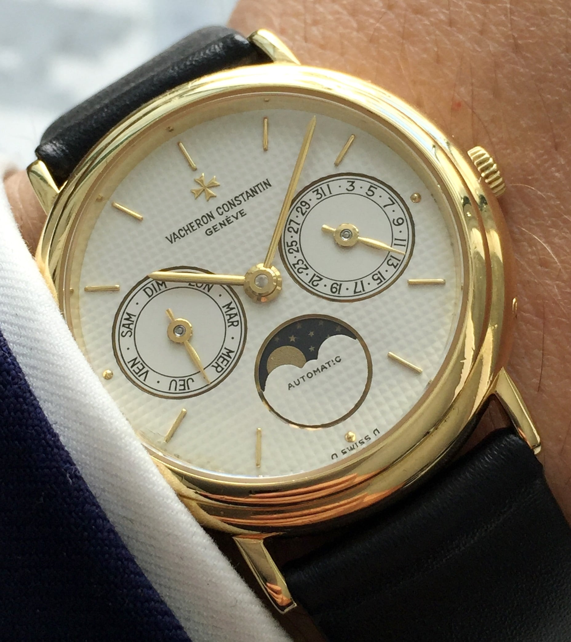 Vacheron Constantin Day Date Moonphase Patrimony Gold