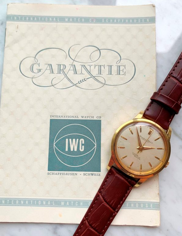Investment Grade 18k Solid Gold IWC Ingenieur Ref 666 FULL SET