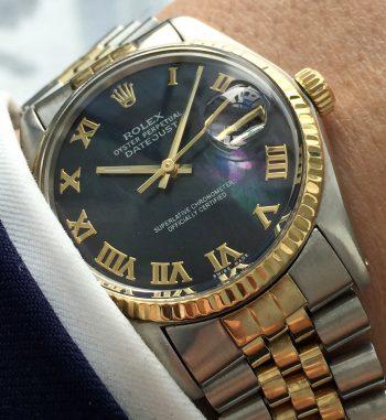 [:en]Vintage Rolex Datejust Ref 16000 restored Mother of Pearl dial[:de]Vintage Rolex Datejust Ref 16000 restauriertes Perlmutt Ziffernblatt[:]