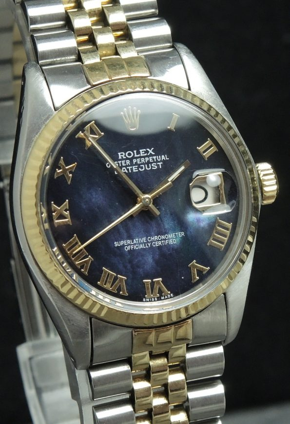 Vintage Rolex Datejust Ref 16000 restored Mother of Pearl dial