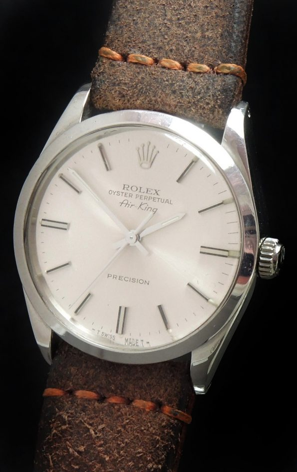Serviced Rolex Air King Automatic Silver Sunburst Dial Vintage