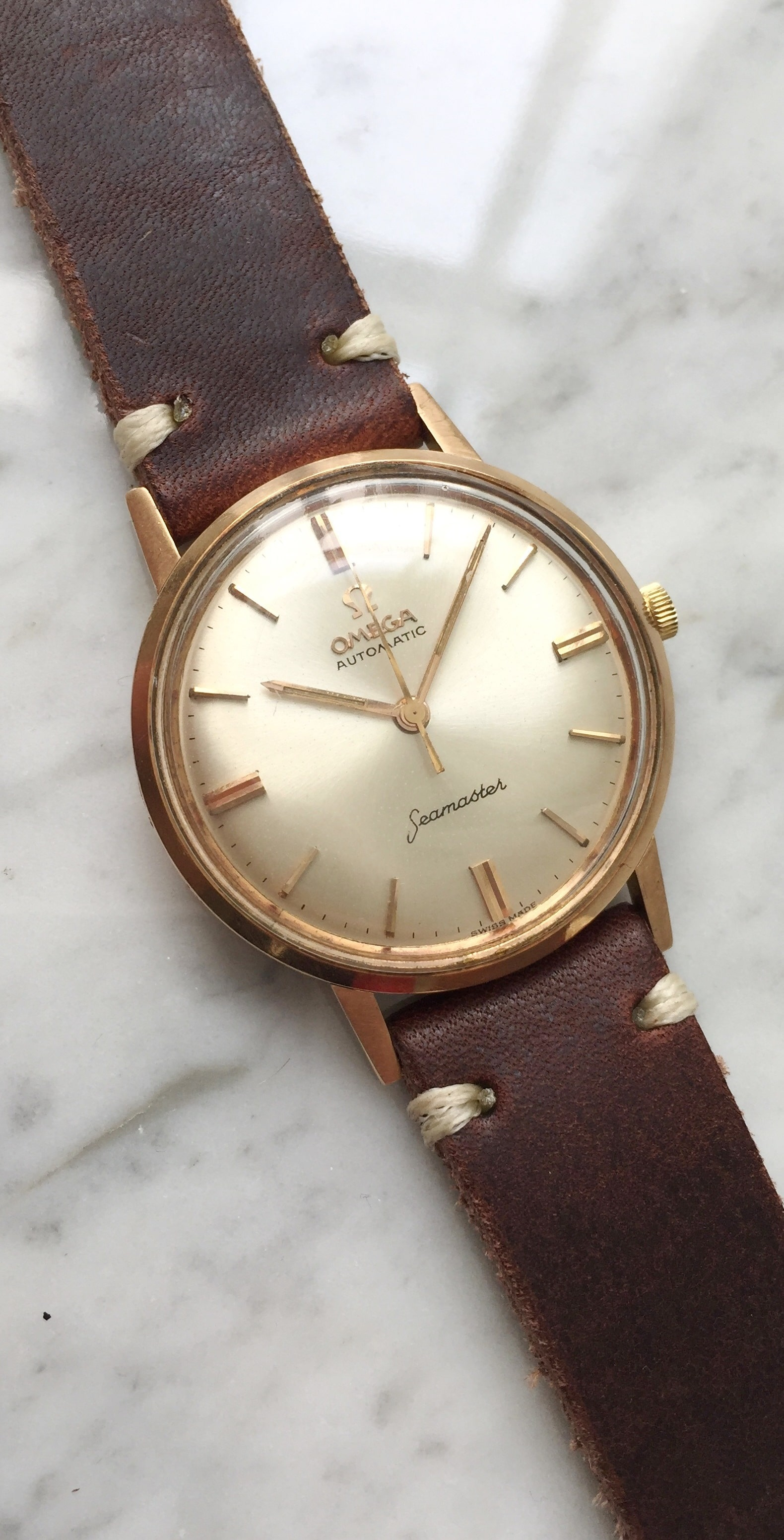 Omega Seamaster Pre De Ville Automatic Solid Red Gold