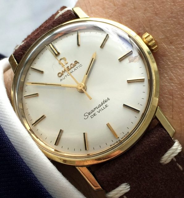 Gold Plated Omega Automatic Seamaster De Ville Date