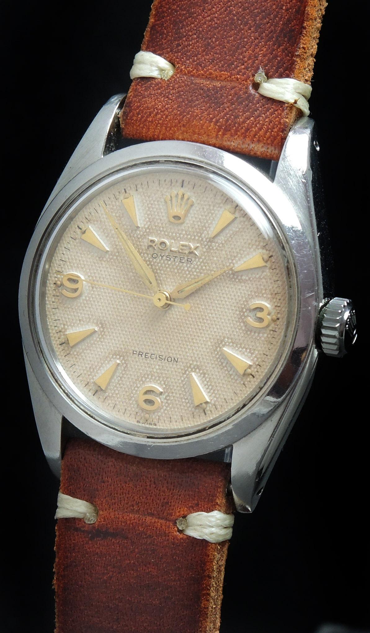 Rolex Oyster Ref 6427 Honigwaben Explorer Ziffernblatt