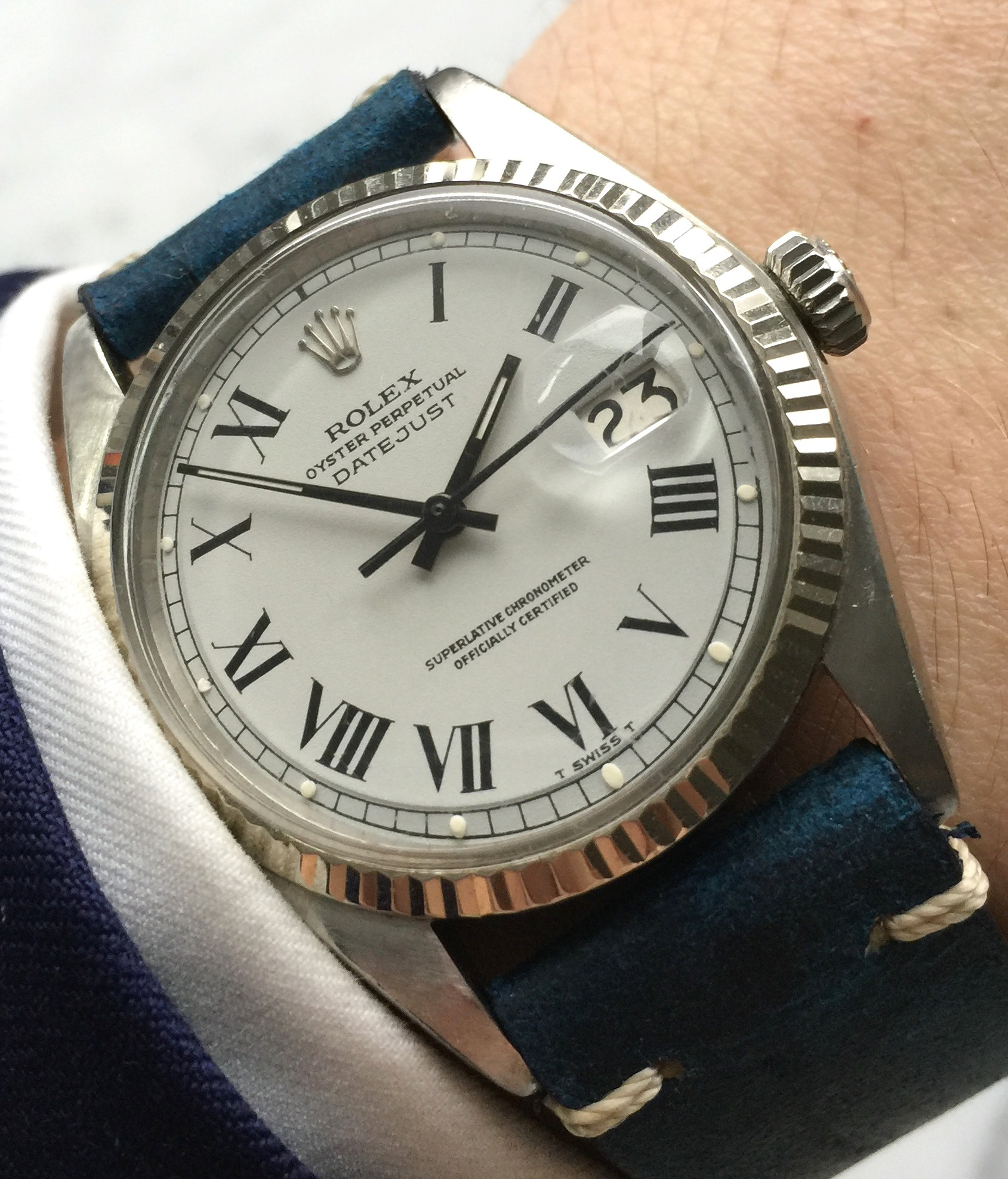 Buckley Dialed Rolex Datejust Automatic Vintage