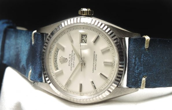 18k WHITE GOLD Rolex Day Date President Stepped Tritium Dial
