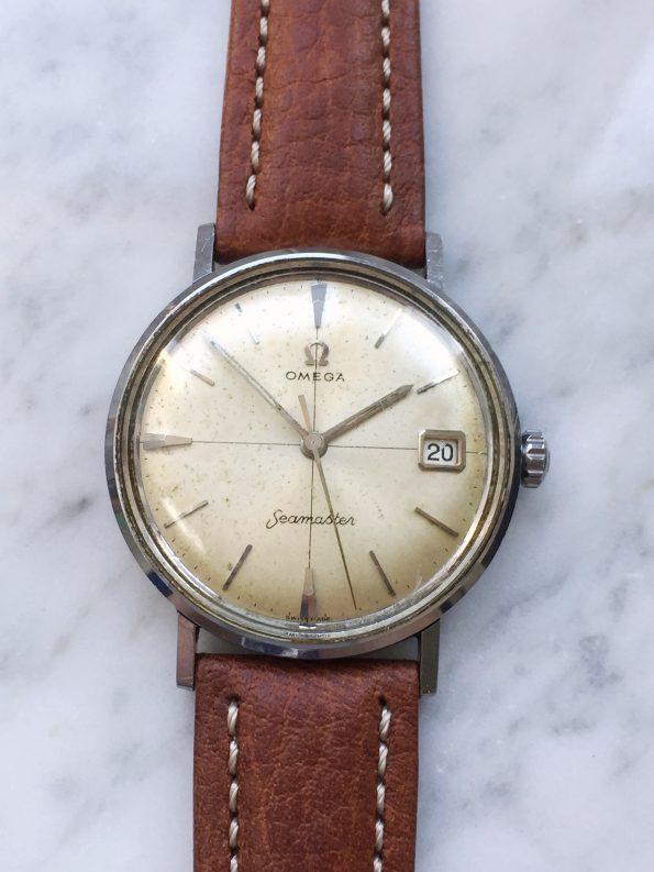 Vintage Omega Seamaster Edelstahl CROSSHAIR Dial Handwinding