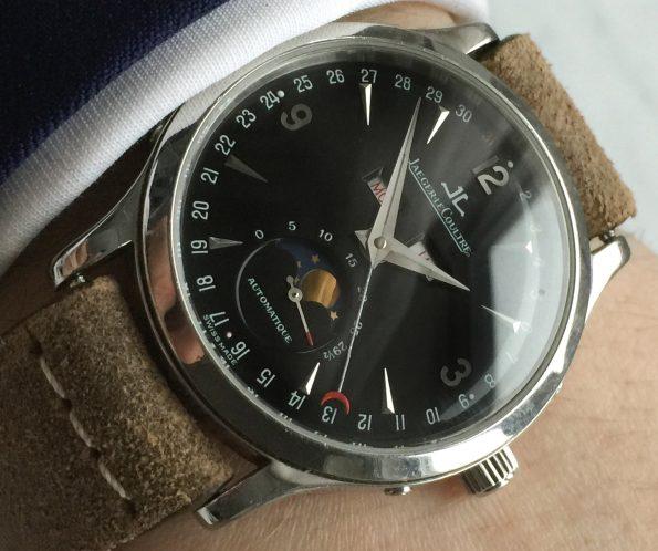 Elegant Jaeger LeCoultre Master Calendar Moonphase Black Dial