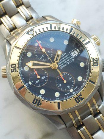 Rare Titanium Rose Gold Tantalum Omega Seamaster 300 Professional Diver Chronograph ref 22978000