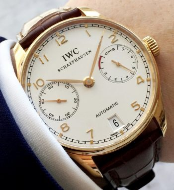[:en]IWC Portugieser 7 Days Automatic Original Papers Solid Gold[:de]IWC Portugieser 7 Days Automatic Originalpapiere Massivgold[:]