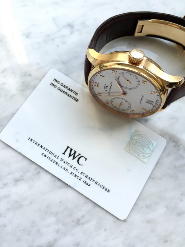 IWC Portugieser 7 Days Automatic Original Papers Solid Gold