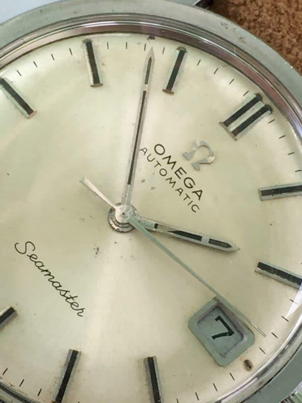 Vintage Omega Seamaster Calatrava Steel Automatic Onyx Dial