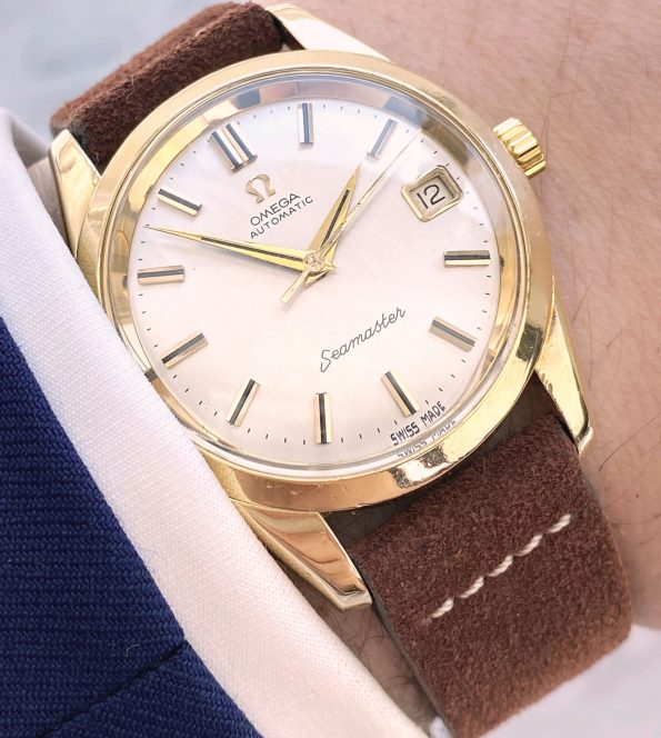 Great Omega Seamaster Automatic Vintage Date Linen Dial 166010