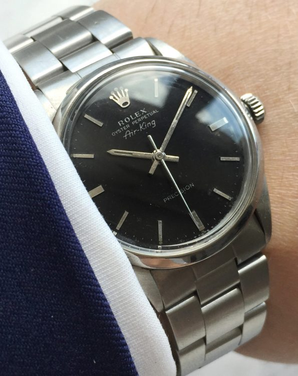 Superrare Vintage Rolex Air King with GILT Black Dial