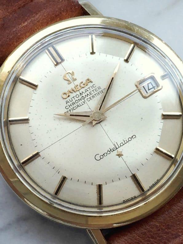 Omega Constellation Automatik Vintage Fadenkreuz Ziffernblatt