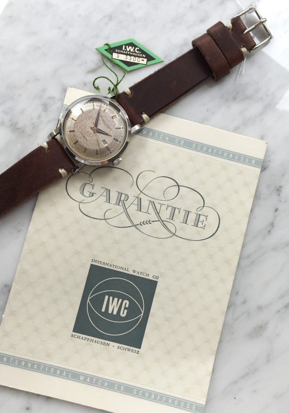 Amazing Vintage IWC Steel Automatic ORIGINAL PAPERS