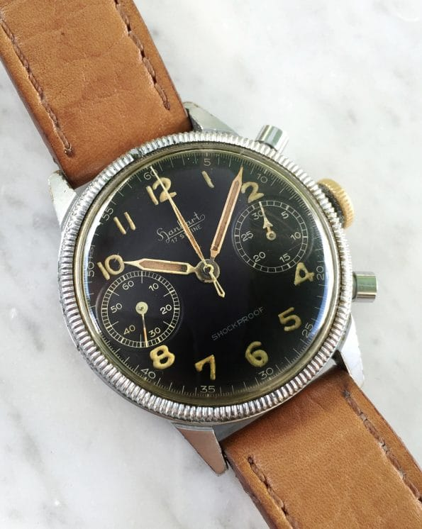 Professionally Serviced Vintage cal 417 Military Style Hanhart Chronograph