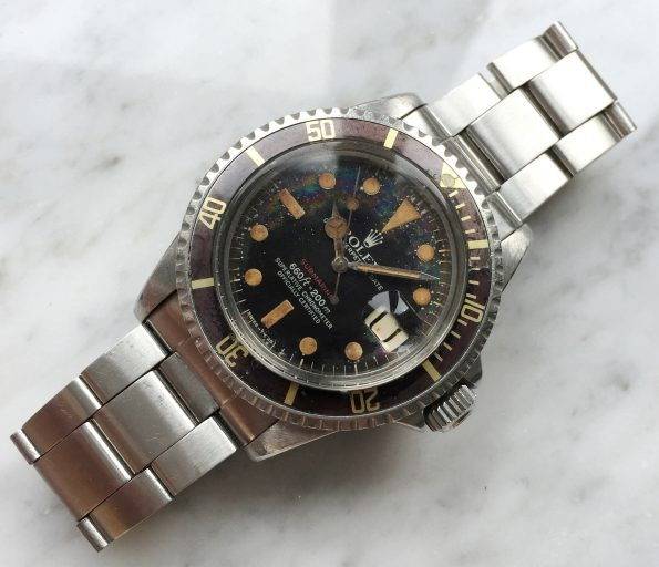 TROPICAL Rolex Submariner 1680 Red Automatic Vintage Diver Brown Bezel Mark VI
