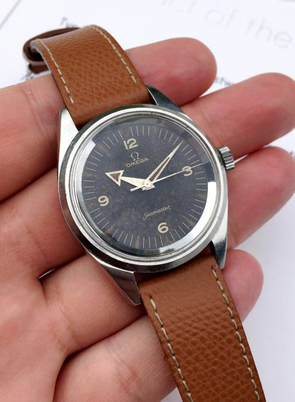 Superrare Omega Seamaster Railmaster PAF Tropical Dial WITH EXTRACT