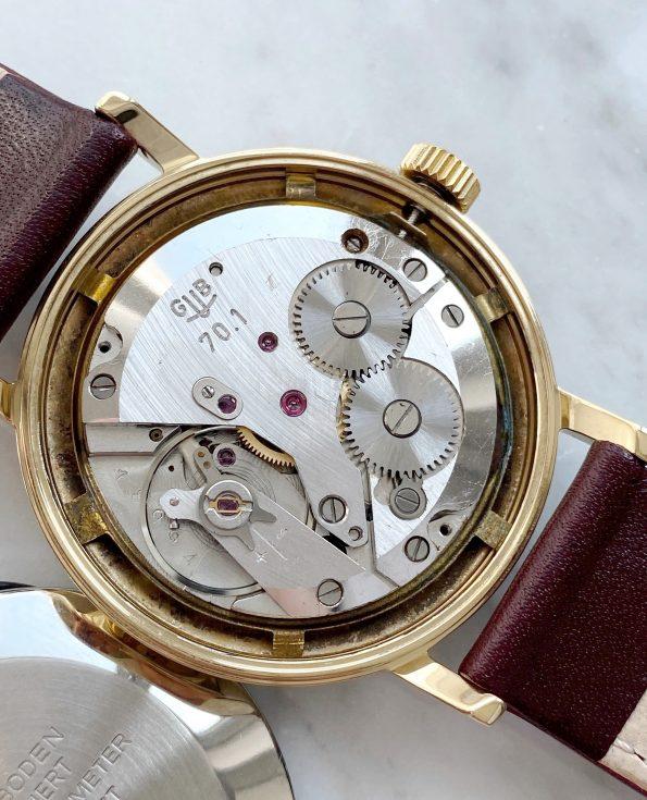 Vintage Gub Glashütte Handwinding golden dial