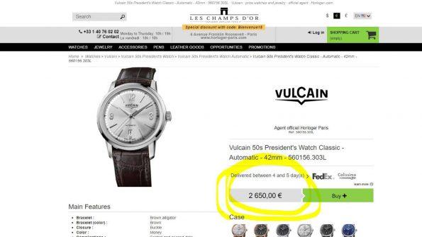 Underpriced Modern Vulcain President Automatic Full Set Explorer Dial