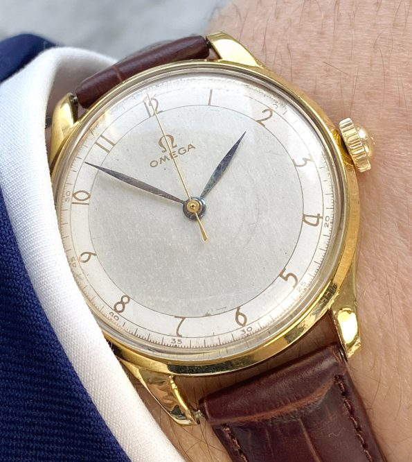 Gold Plated Two Tone Omega Oversize Vintage 36mm