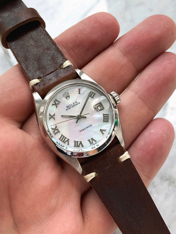 Vintage Rolex Oysterdate Precision 6694 with custom MOP dial