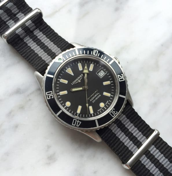 Vintage Longines Diver Admiral 5 Star Submariner Automatik