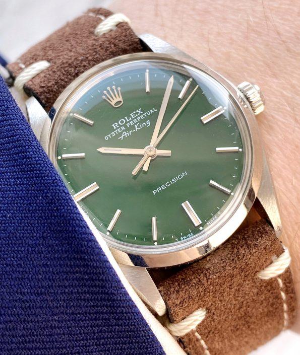 Vintage Rolex Air King Automatic wonderful green customised Hulk dial 5500